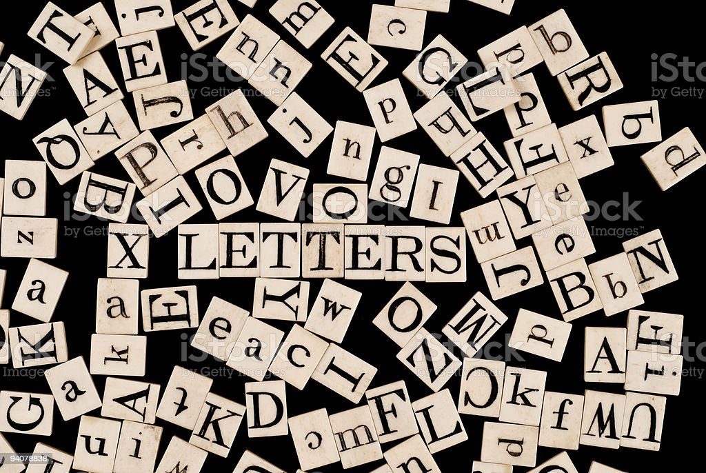 Random Alphabet, with the word 'Letters' royalty-free stock photo