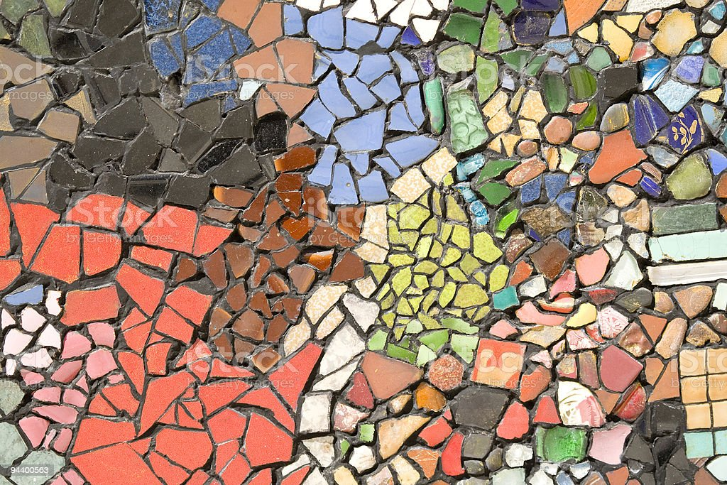 random colored tiles background stock photo