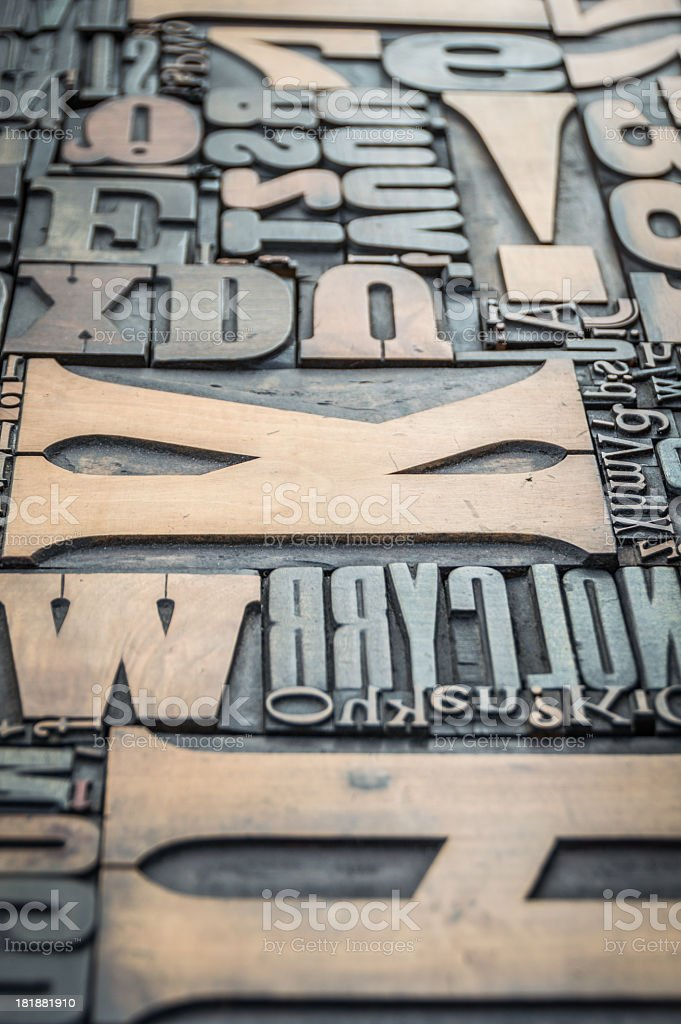 Random Letterpress royalty-free stock photo
