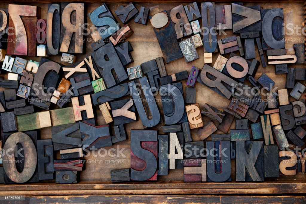 Random Letterpress stock photo