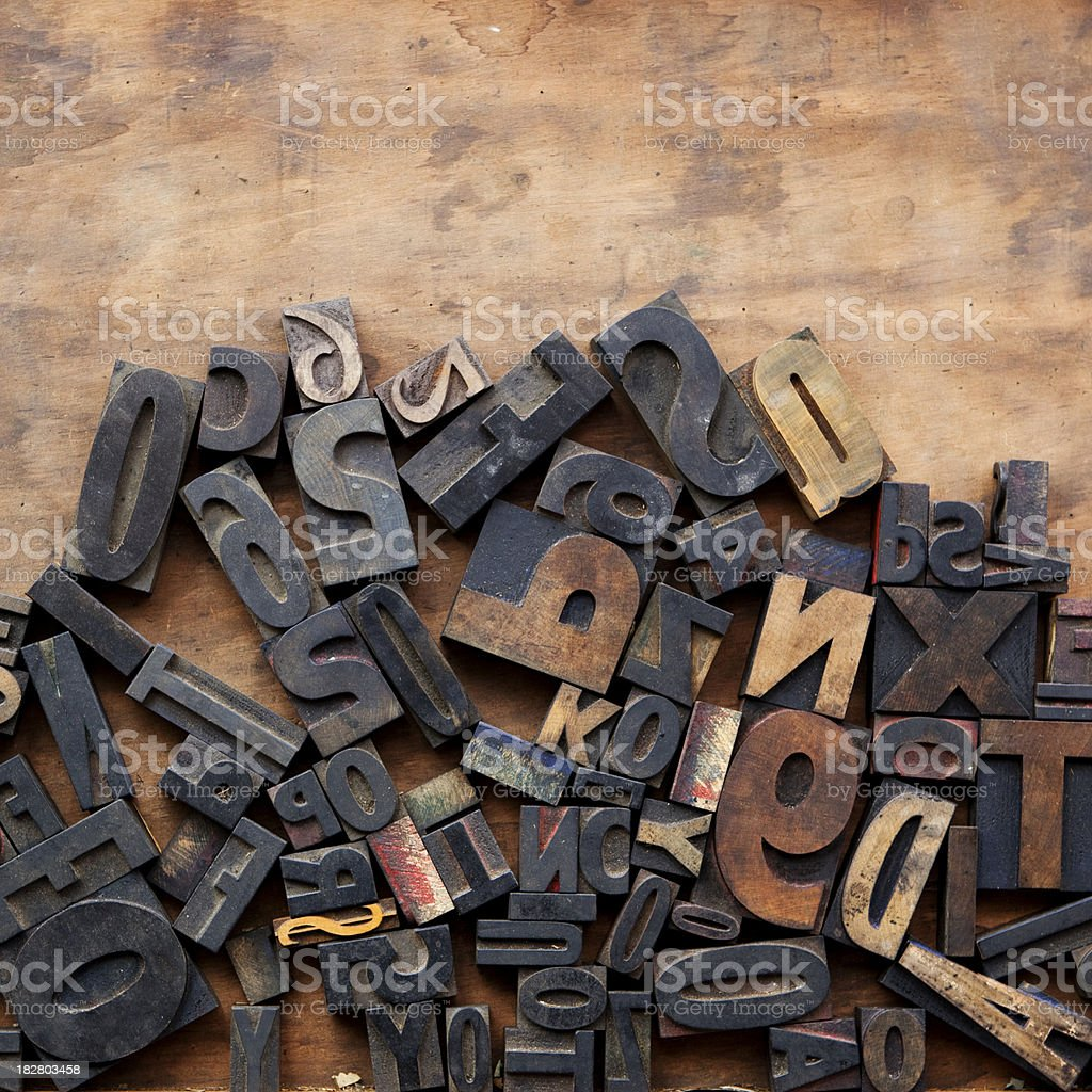 Random Press Blocks stock photo