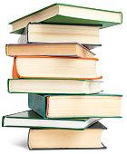 Randomly placed books