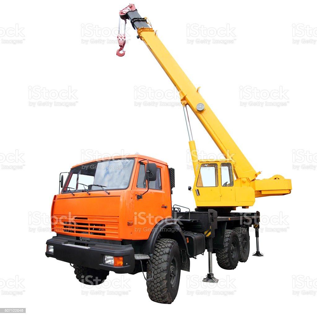 Сrane with a raised jib. stock photo