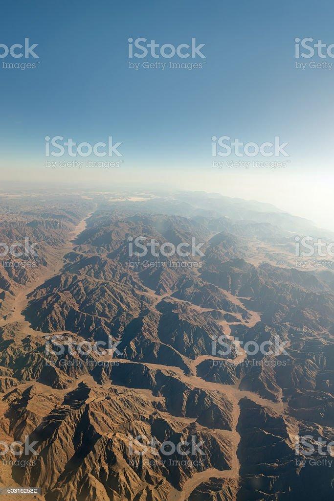 Range of mountains stock photo