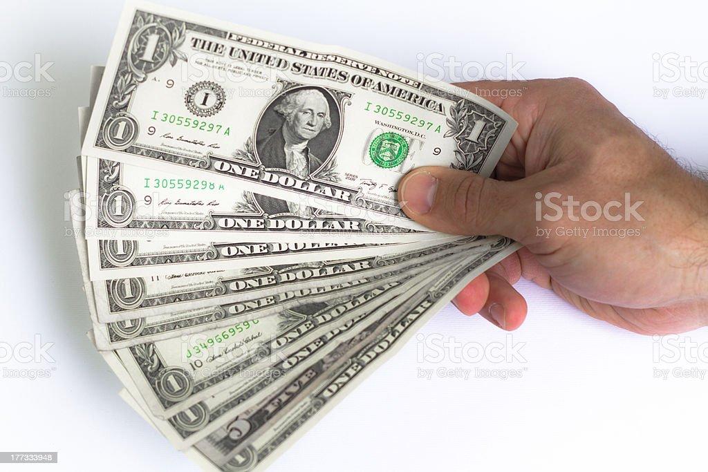 Range of US dollars royalty-free stock photo