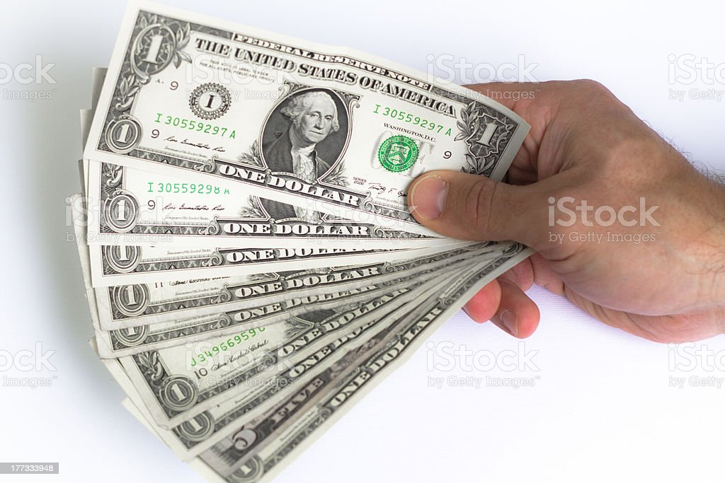 Range of US dollars stock photo