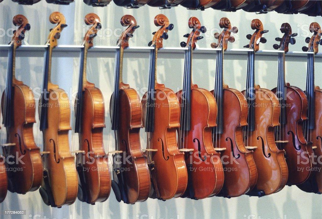 Range of violins royalty-free stock photo