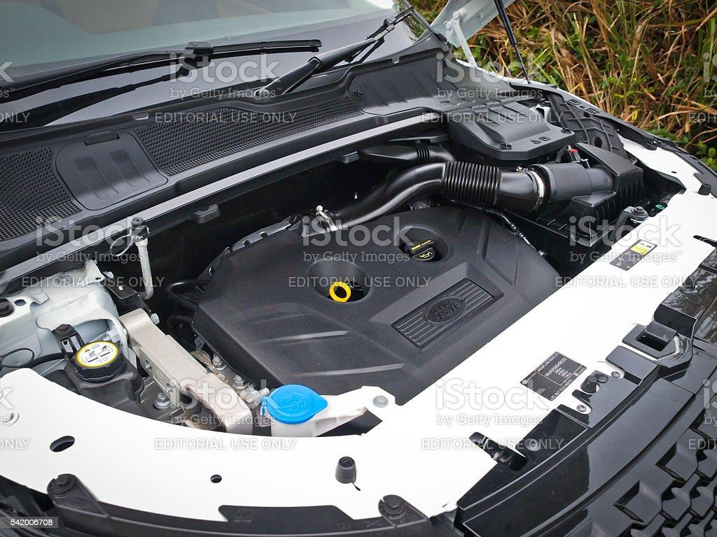 Range Rover Evoque 2016 Engine stock photo