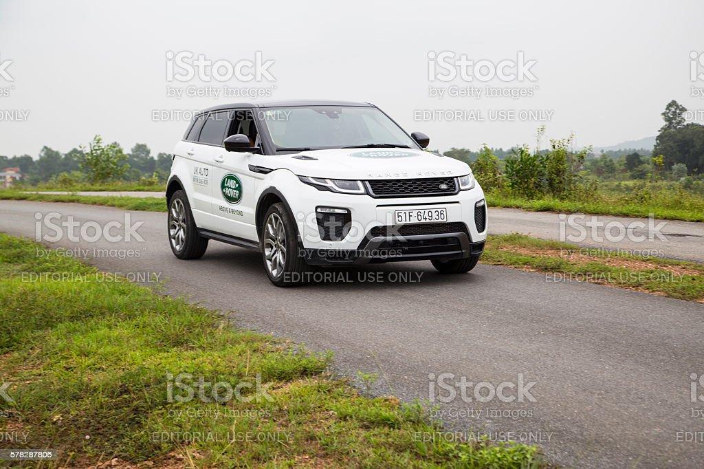 Range Rover Evoque car stock photo