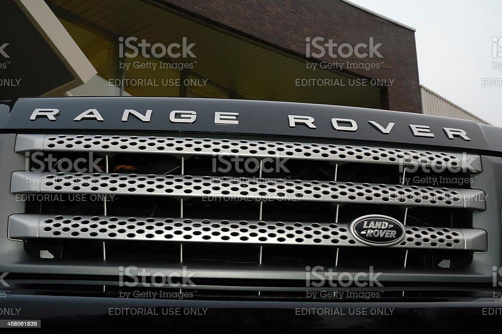Range Rover Grille stock photo