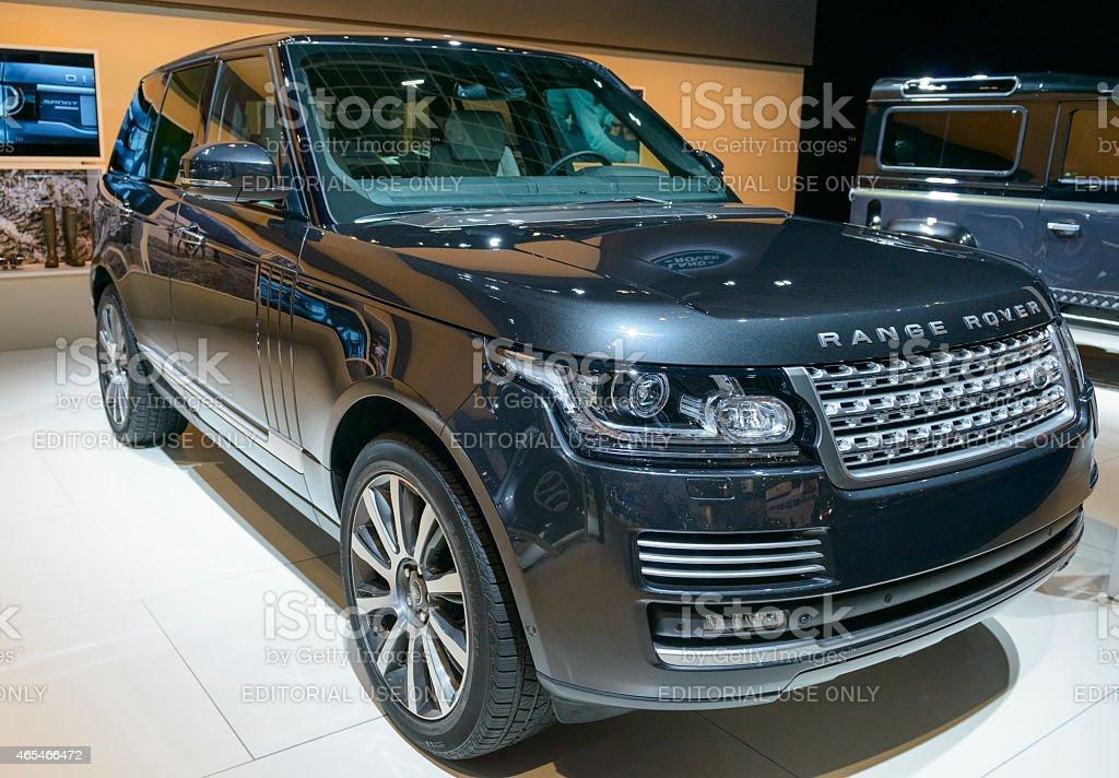 Range Rover offroad SUV car stock photo