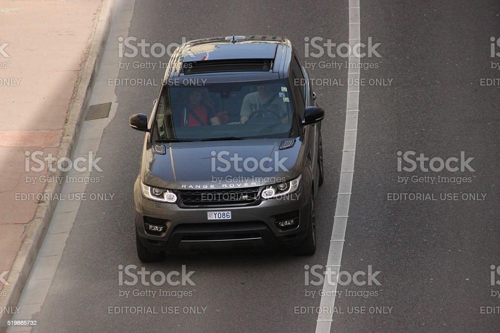 Range Rover Sport in Monte-Carlo, Monaco stock photo