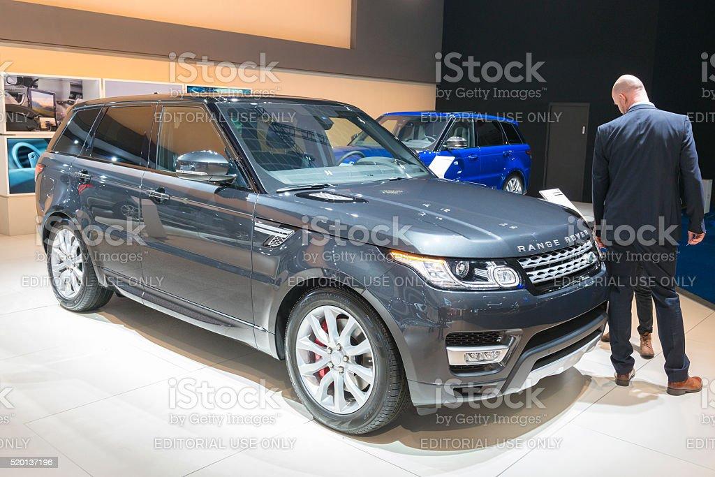 Range Rover Sport luxury SUV stock photo