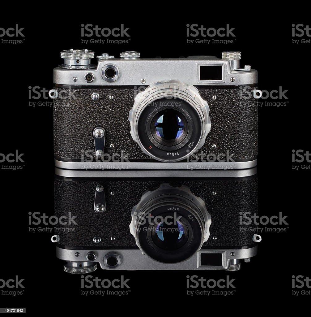 Rangefinder camera stock photo