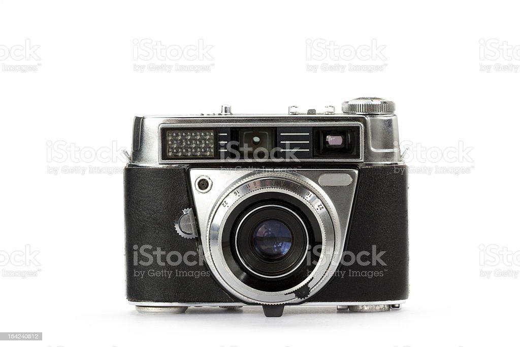 Rangefinder vintage camera stock photo