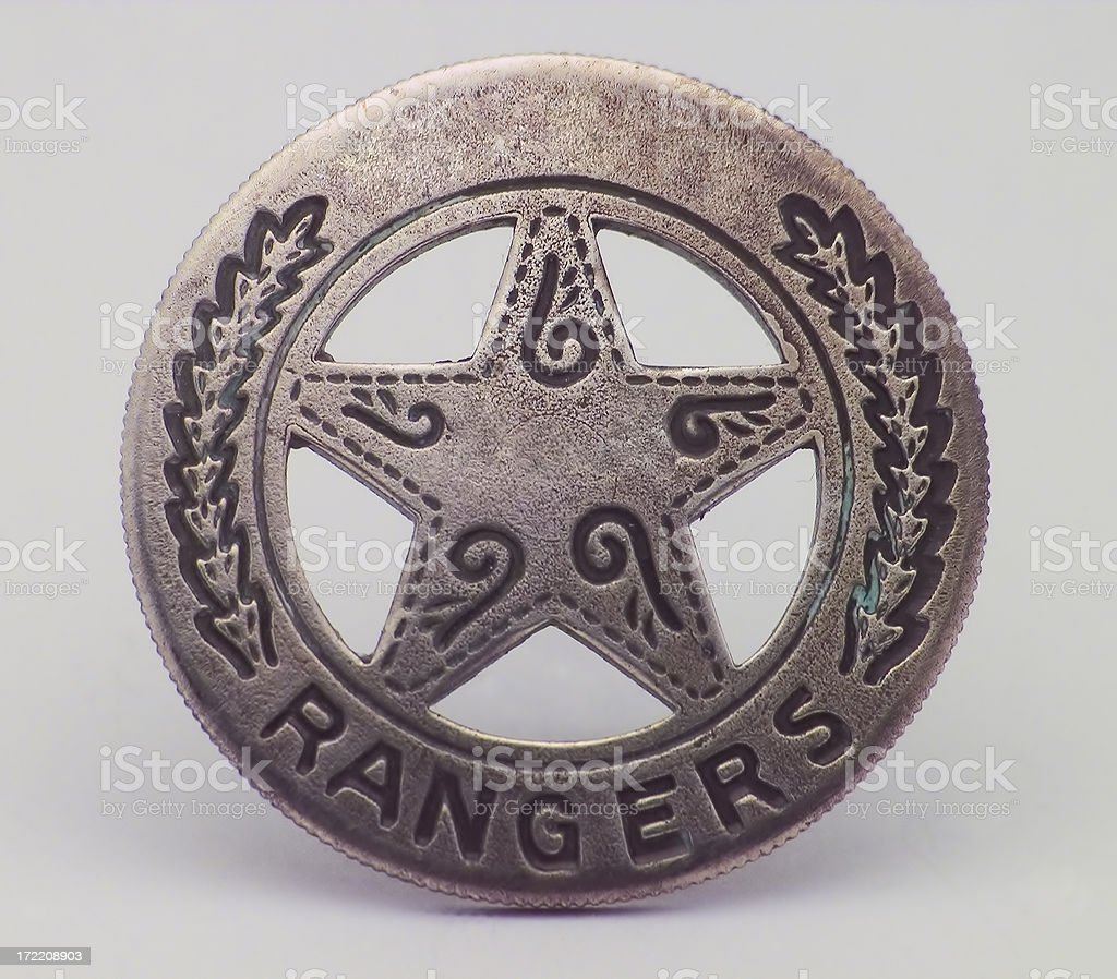 Ranger Badge stock photo