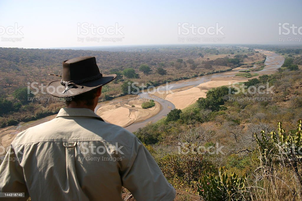 Ranger checking out amazing view stock photo