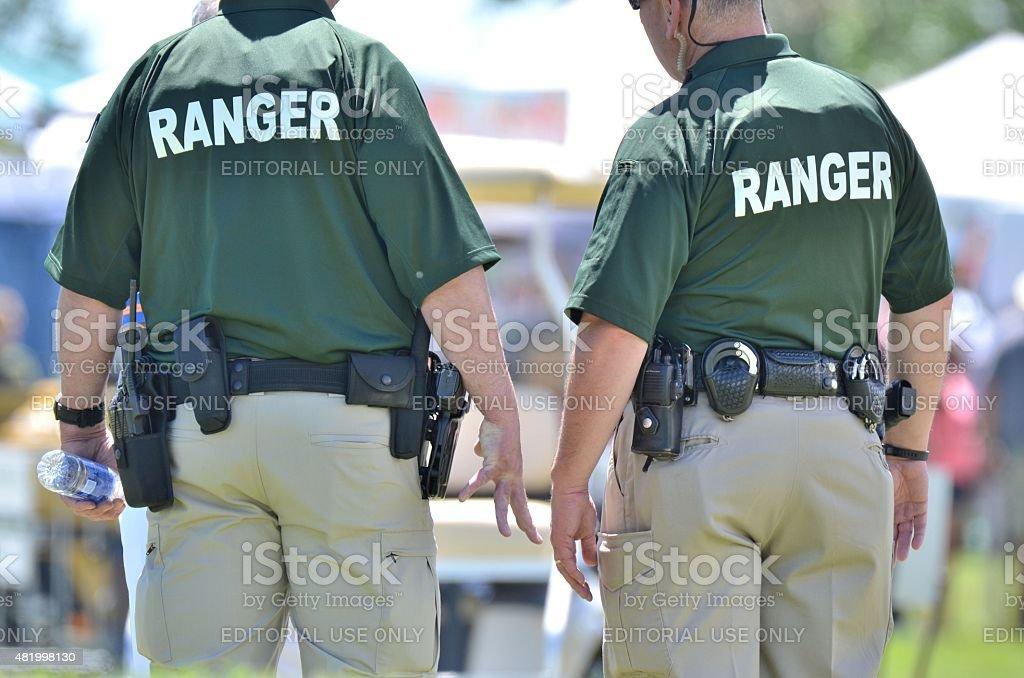 Rangers at the Colorado Irish Festival stock photo