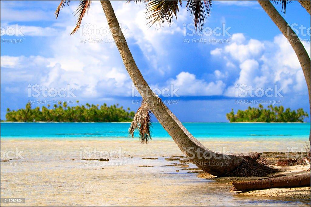 Rangiroa atoll stock photo