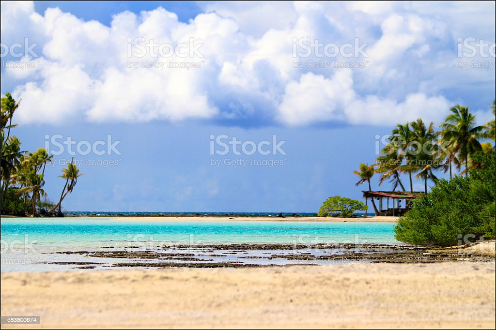 Rangiroa atoll stock photo