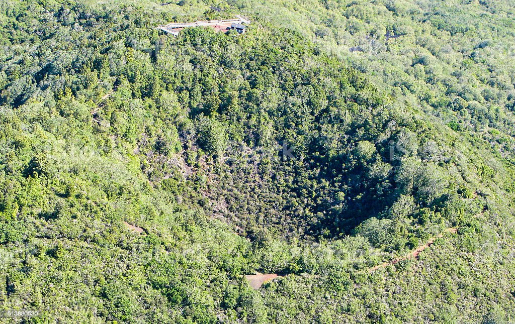 Rangitot crater stock photo