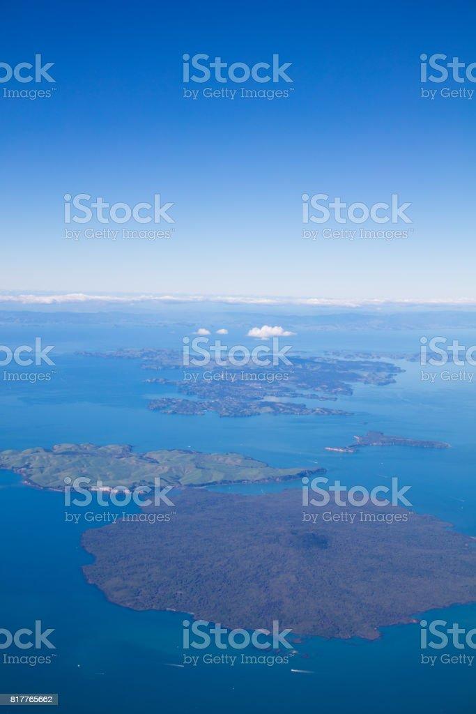 Rangitoto and Waiheke island, New Zealand stock photo