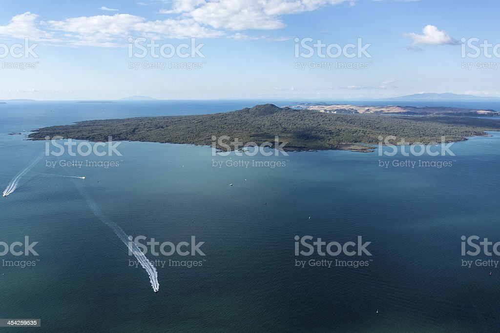 Rangitoto Island, New Zealand stock photo