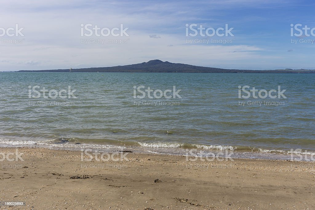 Rangitoto Island on a beautiful sunny day stock photo