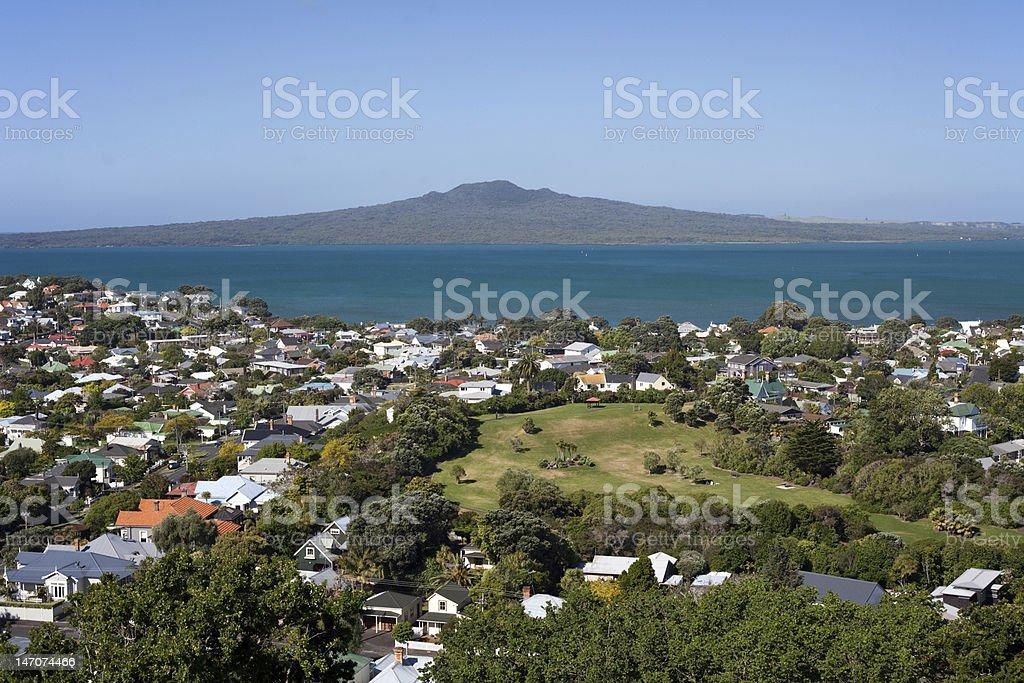 Rangitoto Island stock photo