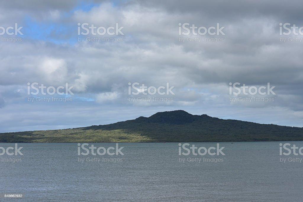 Rangitoto volcano island stock photo