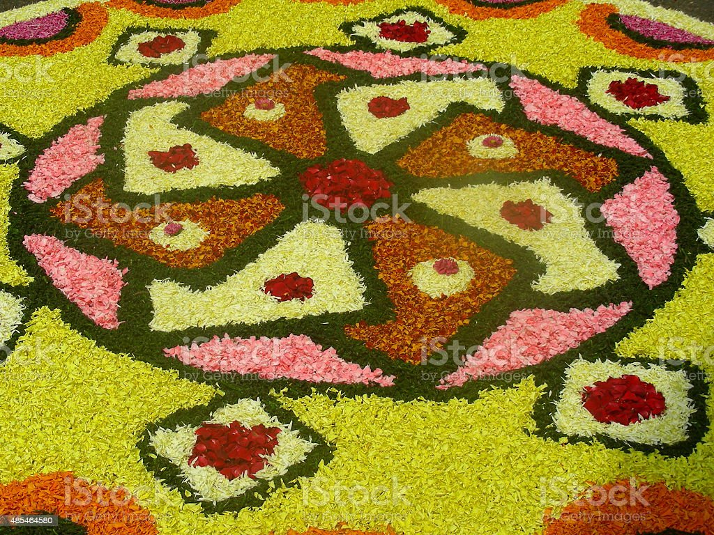 Rangoli decoration for a Hindu festival stock photo