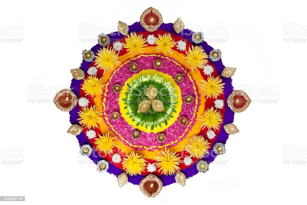 Rangoli for Diwali stock photo