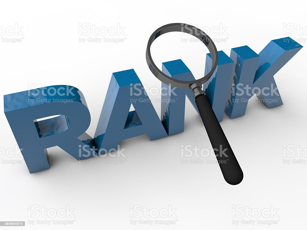 Rank stock photo