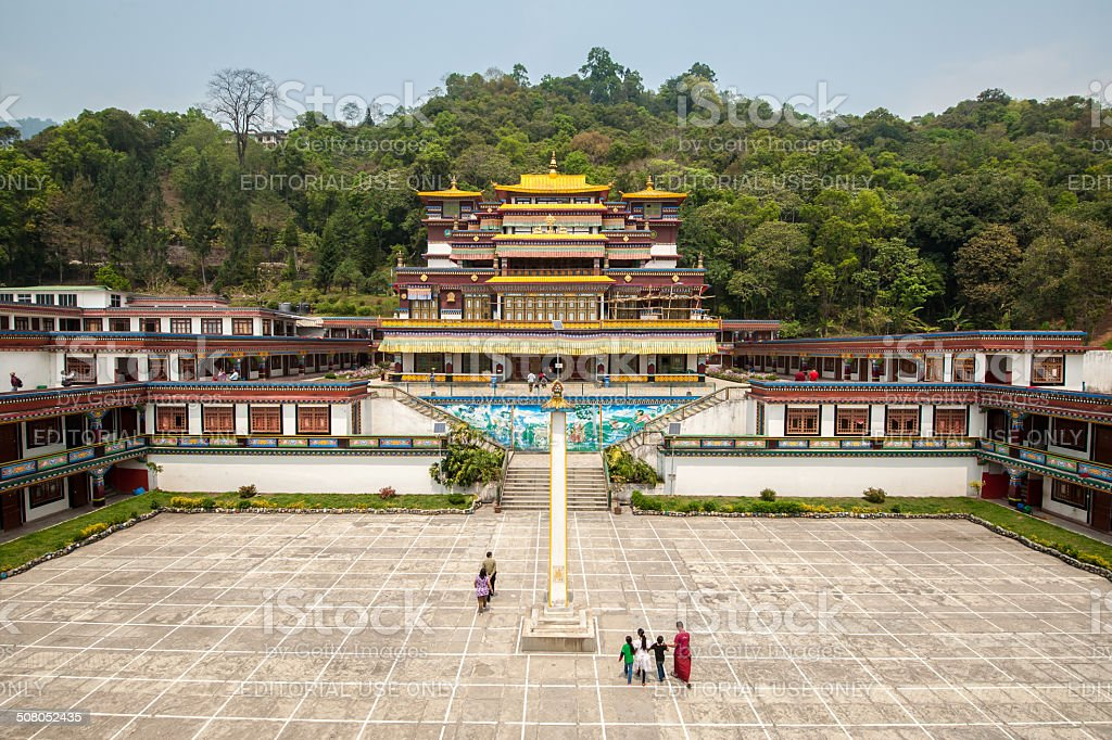 Ranka (Lingdum or Pal Zurmang Kagyud) Monastery stock photo