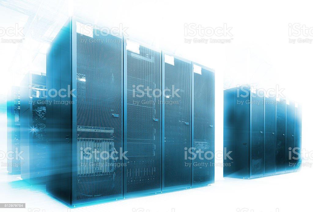 ranks modern supercomputers in computational data center stock photo