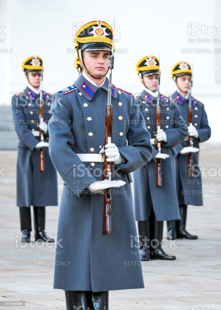 Ranks of soldiers royalty-free stock photo