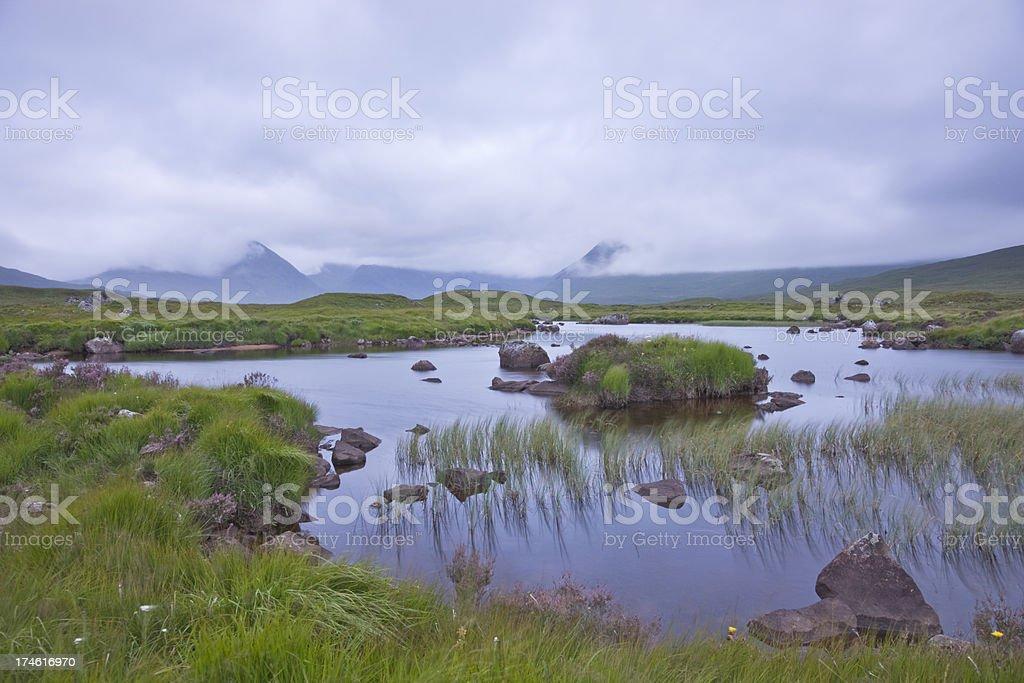 Rannoch Moor Before Dawn stock photo