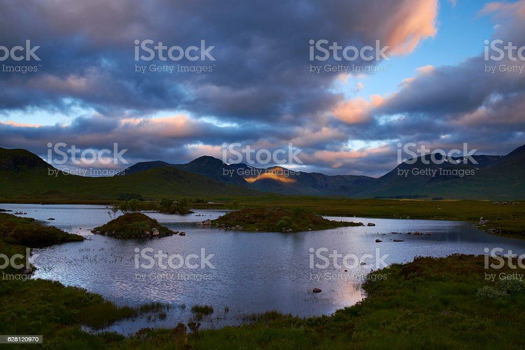 Rannoch Moor In Scotland stock photo