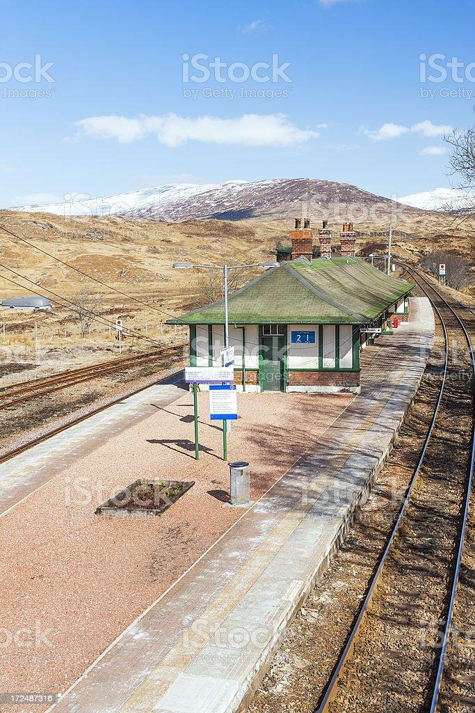 Rannoch Station, Scotland stock photo
