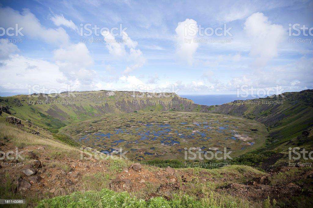 Rano Kao Volcano stock photo