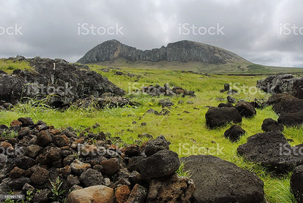 Rano Raraku royalty-free stock photo