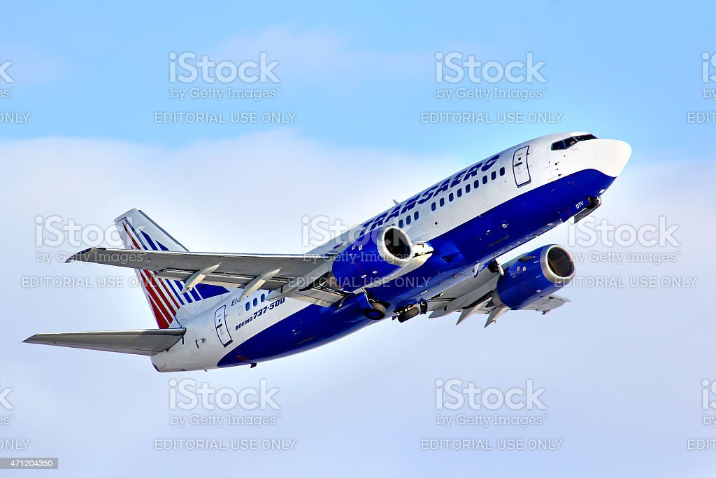 ransaero Boeing 737 stock photo