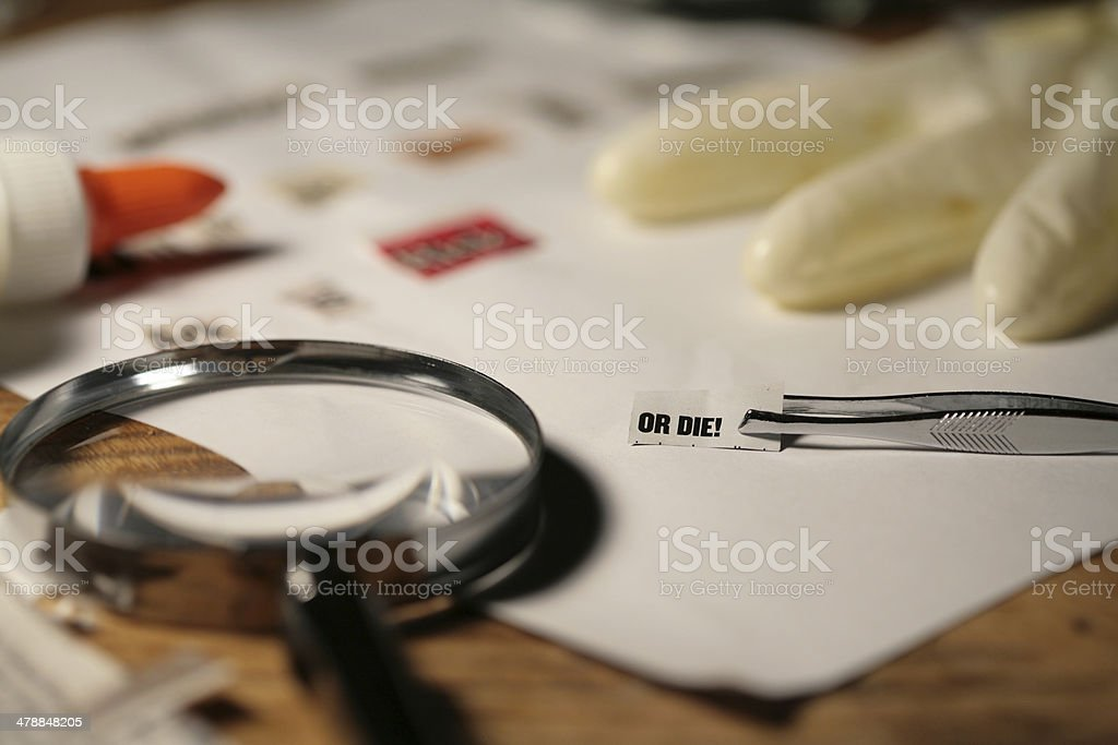 Ransom Note royalty-free stock photo