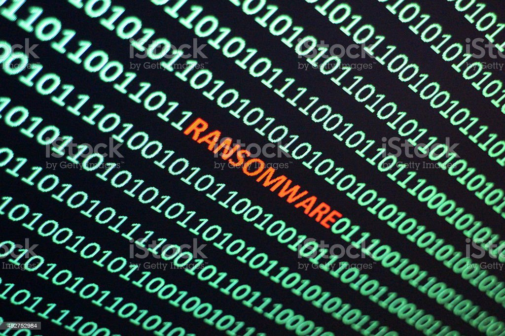Ransom Software stock photo