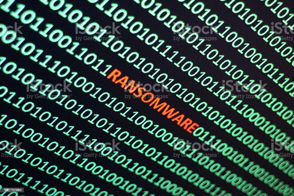Ransom Software stock photo