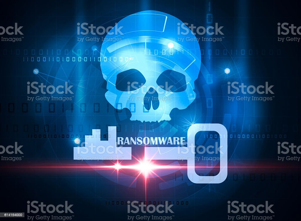 ransomware alert stock photo