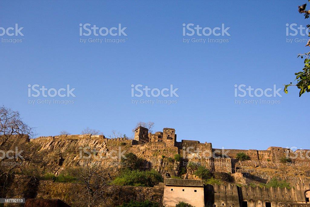 Ranthambhore Fort in Rajasthan, India stock photo