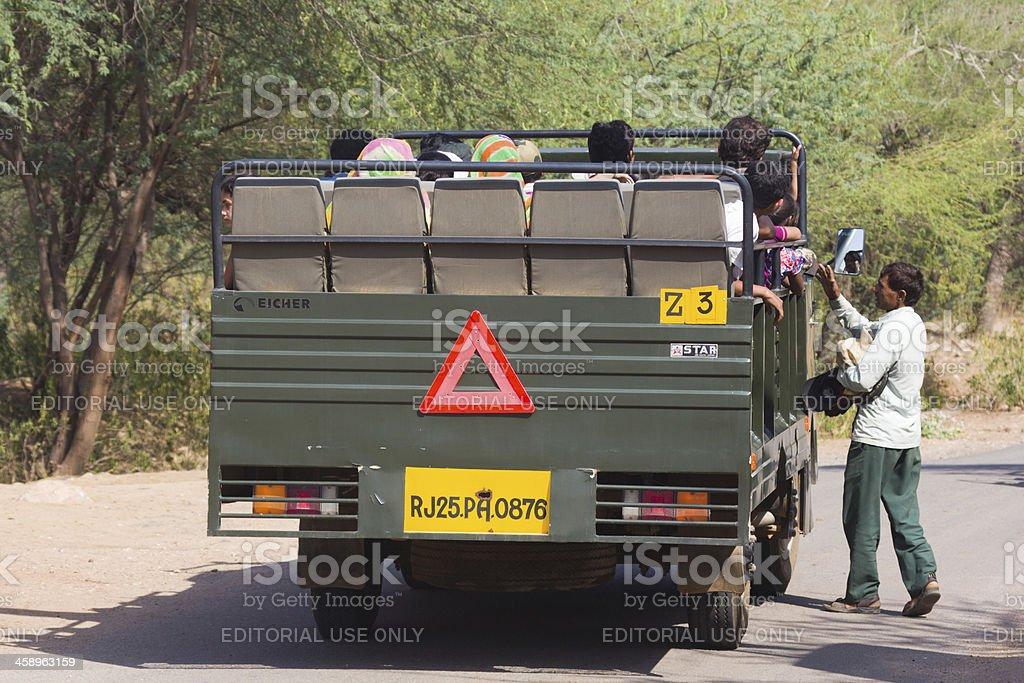 Ranthambhore NP in  Rajasthan, India royalty-free stock photo
