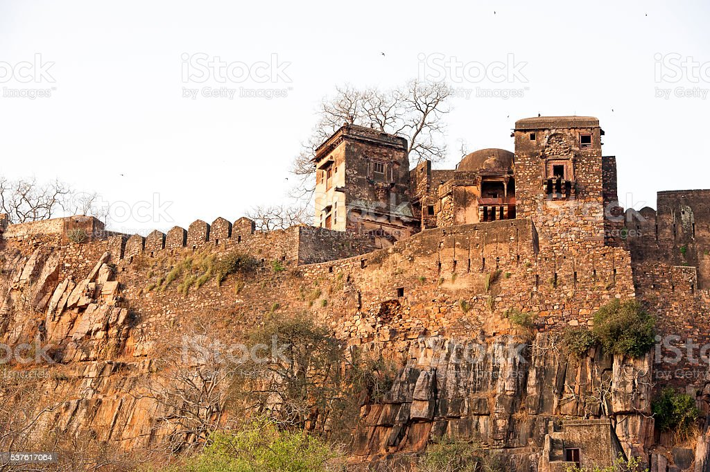 Ranthambore Fort, Rajasthan, India stock photo