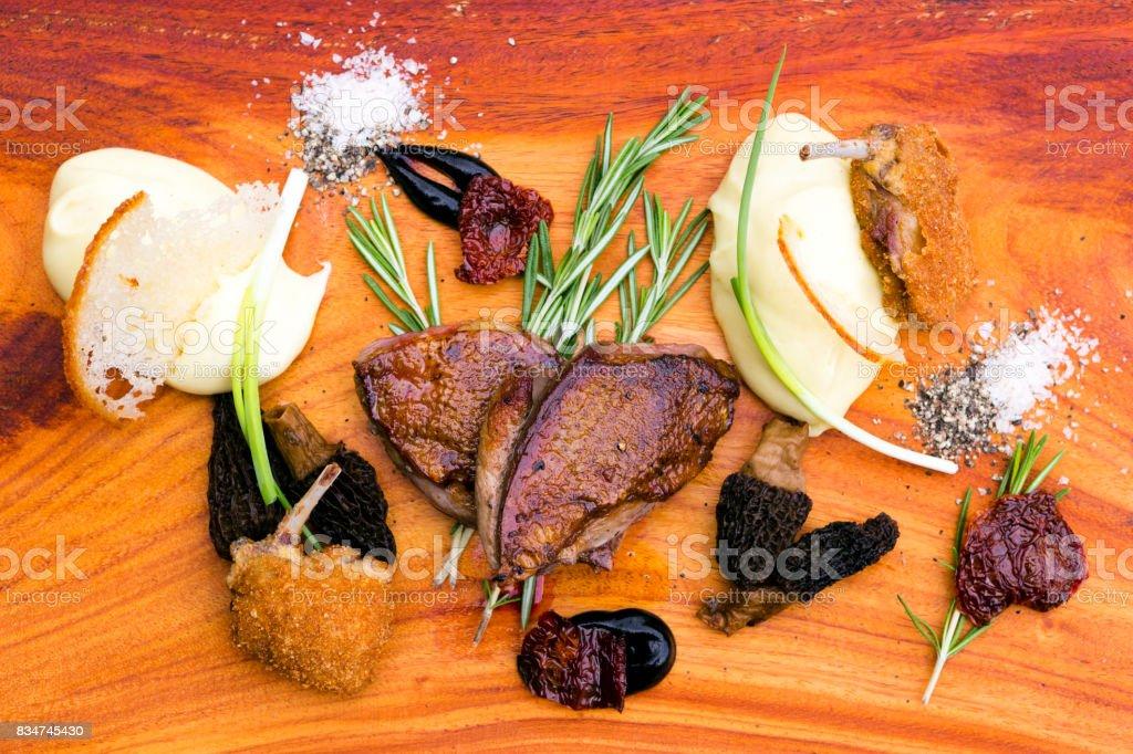 Raost Pigeon de Racan Roti stock photo